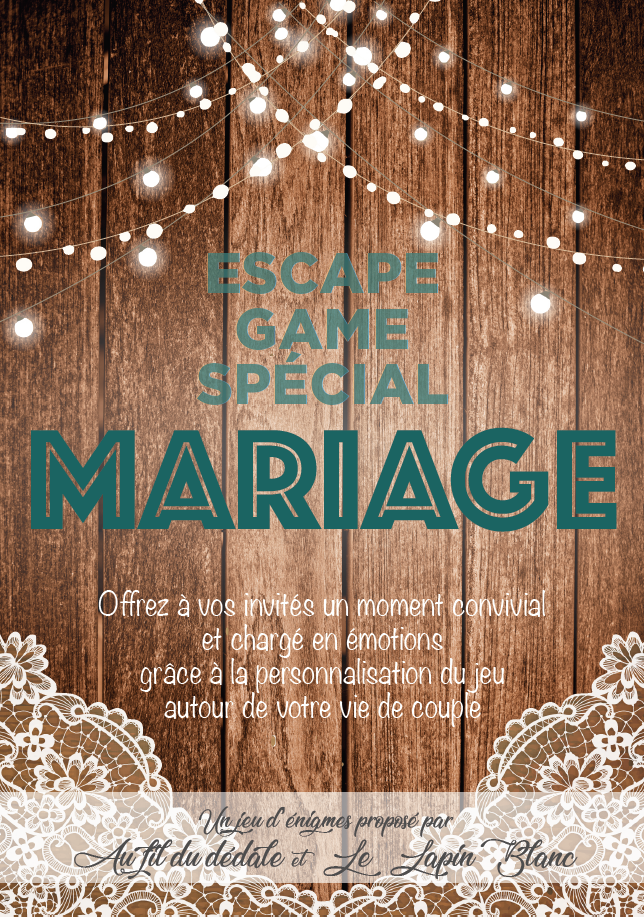Flyer escape game mariage
