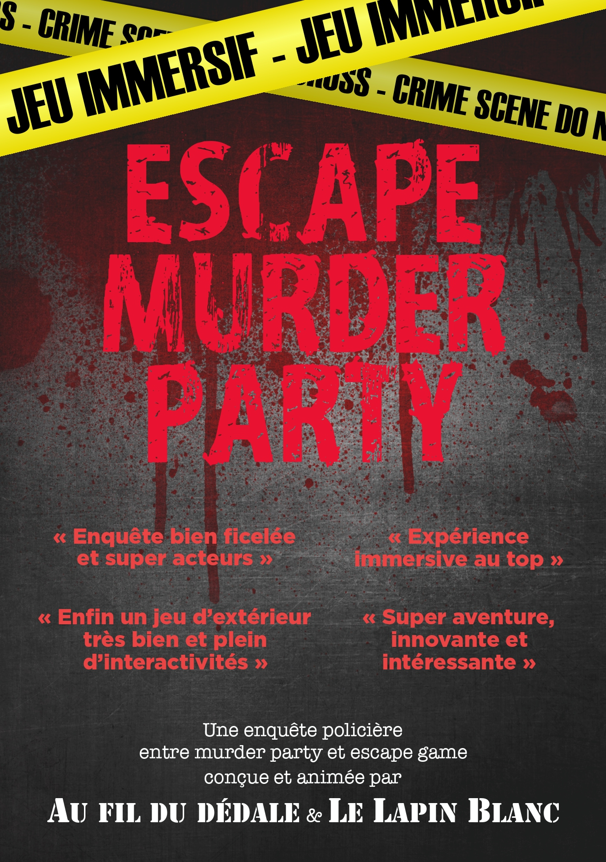 Escape Murder Party - Le Lapin Blanc & Au fil du dédale