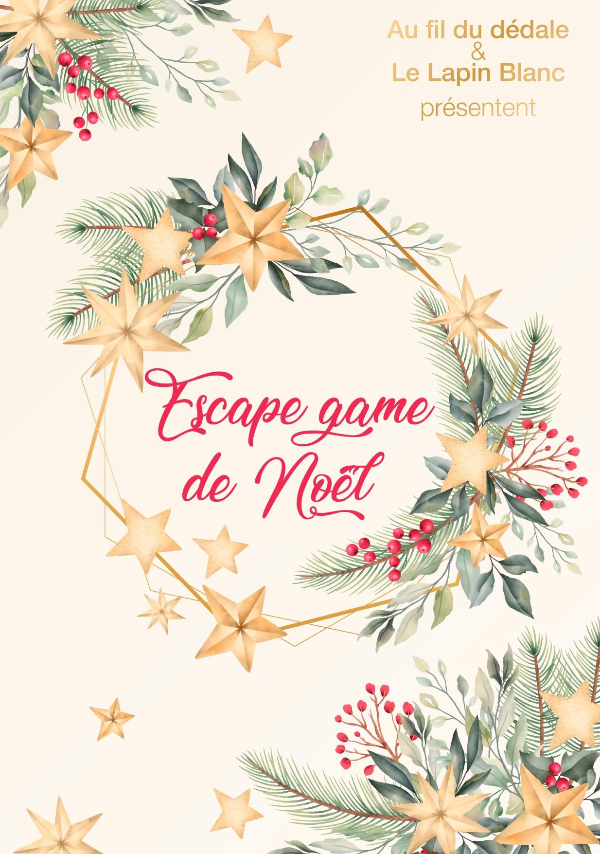 Escape game de Noël - Le Lapin Blanc & Au fil du dédale