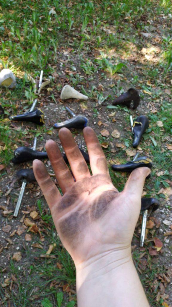 Les mains dans le cambouis pour notre Vélopoly (Faites du vélo 2020)