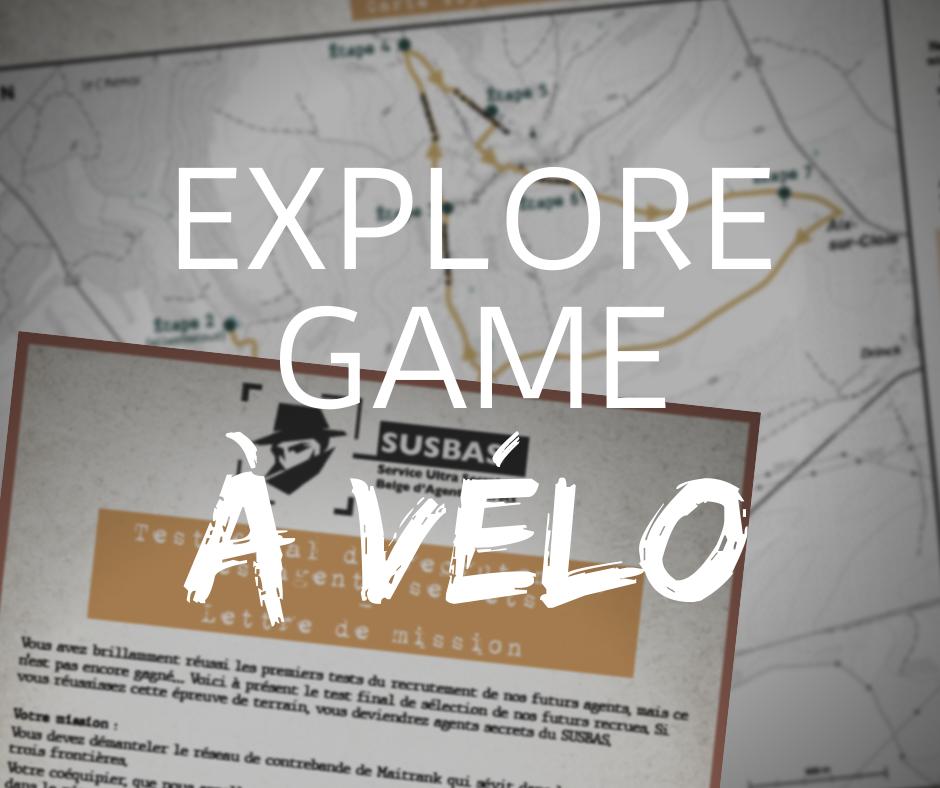 Mission secrète à Aubange Explore game à vélo