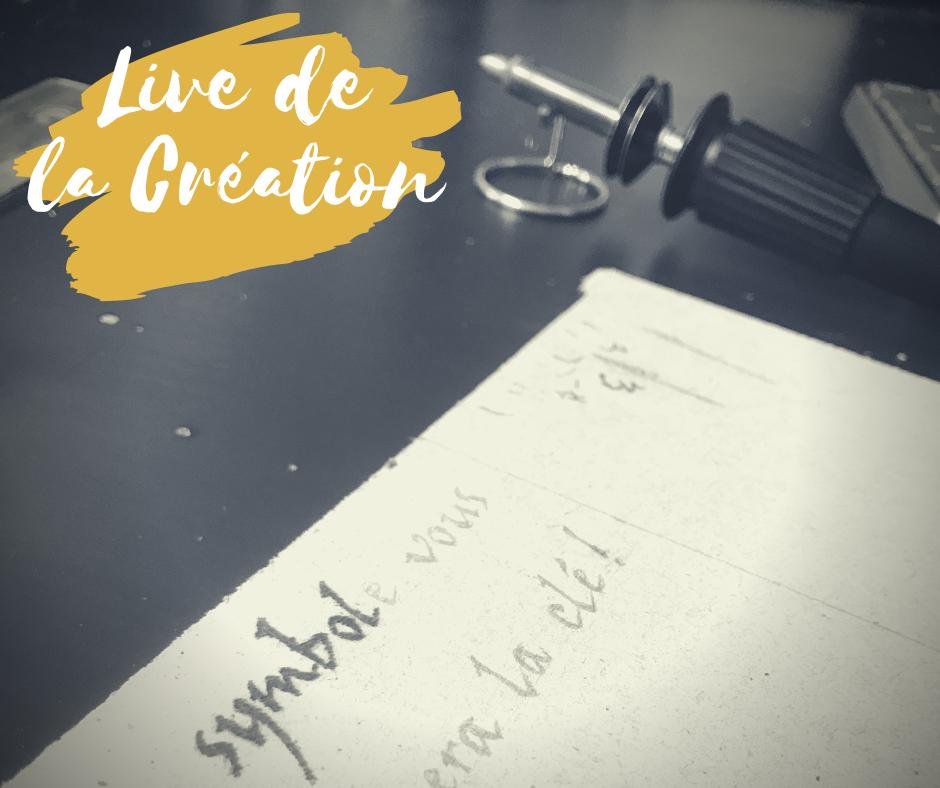 Annonce Live IG de la création