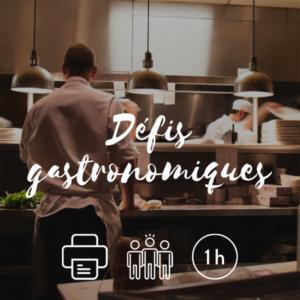 Visuel Défis gastronomiques