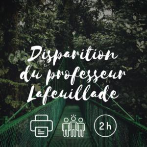 Visuel Disparition du professeur Lafeuillade